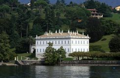 Lake Como Villa Royalty Free Stock Photos