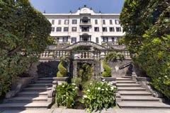 Lake of Como at Villa Carlotta. Beautiful villages on the Lago di Como: Villa Carlotta, located in the north of Italy. Photo Taken On: April, 2017 stock image