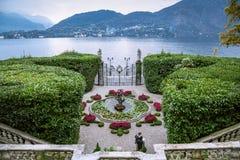 Lake Como, Villa Carlotta, Italy. Main entrance in Villa Carlotta on October 12, 2015 in Tremezzo, Italy royalty free stock image