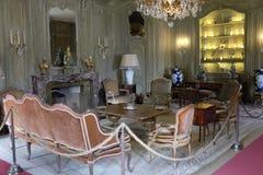 Lake Como: Villa del Balbianello, the smoking salon. The smoking salon of Villa Del Balbianello, home to the Italian explorer Mr Monzino royalty free stock image