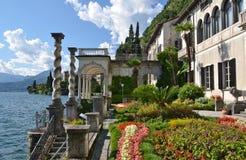 Lake Como from villa Monastero. Italy. View to the lake Como from villa Monastero. Italy royalty free stock photography