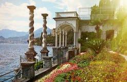 Lake Como from villa Monastero. Italy. View to the lake Como from villa Monastero. Italy stock images