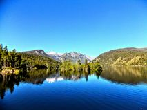 Lake Como. Water reflecting the mountains off of Lake Como - Hamilton, MT Royalty Free Stock Photos