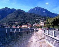 Lake Como waterfront, Menaggio. Stock Photos