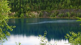 Mountain lake in Germany. The lake is a component of the hydrosphere, which is a naturally occurring body of water filled with water within the lake bowl lake royalty free stock image