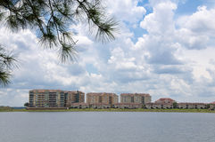 Lake Condos Royalty Free Stock Photos