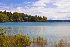 Lake Constance. (German: Bodensee) is a lake on the Rhine at the northern foot of the Alps, situated in Germany, Switzerland and Austria Stock Photos