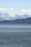 Lake of Constance. With view to the alps Stock Photo