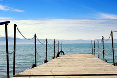 Lake of Constance. With view to the alps Stock Images