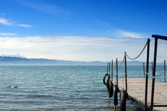 Lake of Constance. With view to the alps Royalty Free Stock Image