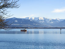 Lake constance and alps Germany Royalty Free Stock Photo