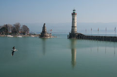 Lake Constance Bodensee, harbour of Lindau stock image