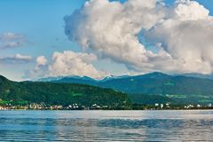 Lake Constance Bodensee. With view of Mountains Stock Image