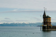 Lake Constance harbor scenic stock images