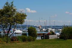 Lake of constance Iznang Germany Bodensee port Stock Image