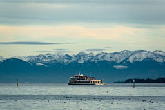 Lake Constance passenger ship Royalty Free Stock Photos