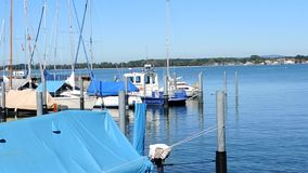 Lake Constance with sailboats - Germany stock video footage