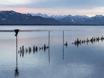 Lake constance on sunset Stock Photos