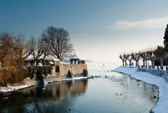 Lake Constance in winter Royalty Free Stock Photography