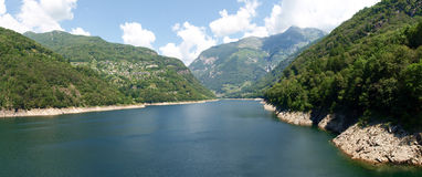 Lake of Contra, Verzasca Royalty Free Stock Photo