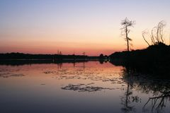 Lake Conway, Arkansas, USA. Lake Conway, sunrise,landscape,lake Stock Photos