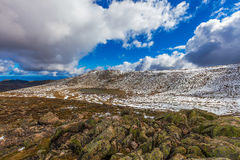 Lake Cootapatamba on Mount Kosciuszko Summit walk. New South Wal. Es, Australia Royalty Free Stock Photos