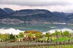 Lake Corbara Stock Image