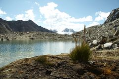 Lake in the Cordilleras mountain Stock Image