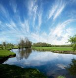Lake in countryside. Royalty Free Stock Images