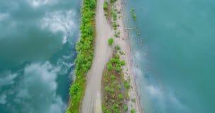 Lake in countryside 4k. Beautiful lake in countryside 4k stock video