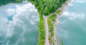 Lake in countryside 4k. Beautiful lake in countryside 4k stock footage