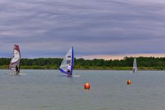 Lake Course Racing Royalty Free Stock Images