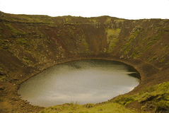 Lake in the crater of an extinct volcano. Landscape of Iceland Stock Photo