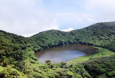 Lake in the crater of an extinct volcano Maderes Stock Photos