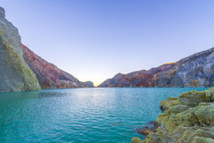 Lake in a crater Volcano Ijen, Java,Indonesia Royalty Free Stock Photos