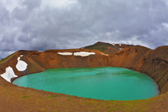 Lake in the crater of an volcano Royalty Free Stock Photos