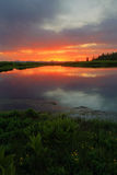 Lake Creek Sunset Royalty Free Stock Image