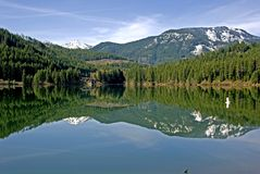 Lake Crescent. At Snoqualmie Pass in Washington State Royalty Free Stock Image