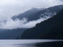 Lake Crescent Fog Stock Images