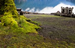 Lake Crescent in Olympic National Park in winter Stock Image