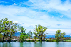 Lake in Crimea Royalty Free Stock Photography