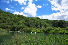 The lake in Croatia. Royalty Free Stock Photos