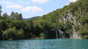Lake in Croatia stock video