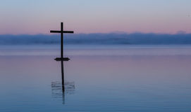 Lake Cross Stock Photo