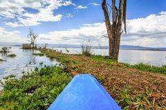 Lake cruise by blue canoe, Naivasha, Kenya Stock Images