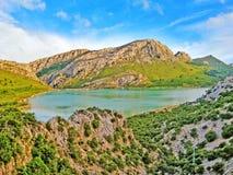 Lake Cuber reservoir in the Serra de Tramuntana, Majorca, Spain Stock Photo