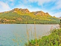 Lake Cuber reservoir in the Serra de Tramuntana, Majorca, Spain Stock Images