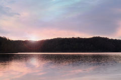 Lake Cumberland Kentucky. Beautiful sunrise at Lake Cumberland, Kentucky stock image