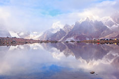 Lake CuoxueRenma. Is under mount Makalu——The 5th highest mount of the world, part of Himalaya mountain. It is also known as Karma Valley Royalty Free Stock Images