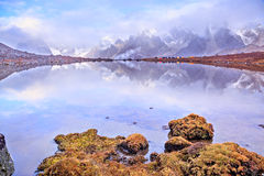 Lake CuoxueRenma. Is under mount Makalu——The 5th highest mount of the world, part of Himalaya mountain. It is also known as Karma Valley Royalty Free Stock Photography